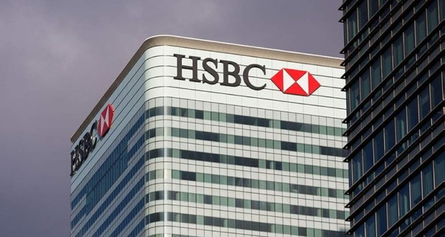 This file photo shows HSBC headquarters in Canary Wharf, London.
