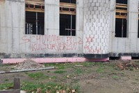 Mosque under construction in Germany defaced with racist slurs