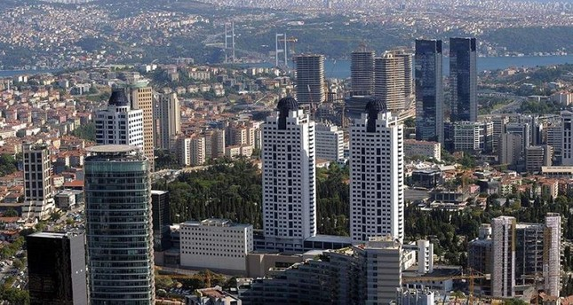 A view of Istanbul with skyscrapers in the foreground. The new bill seeks to limit the number of floors in any given area. AA Photo