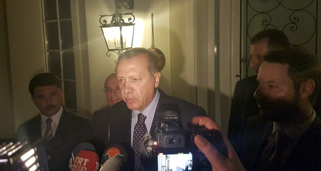 Turkish President Tayyip Erdogan speaks to mediaTurkey, July 15, 2016. (REUTERS Photo)