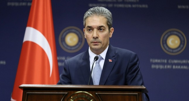 Turkish MFA Spox Hami Aksoy (AA File Photo)