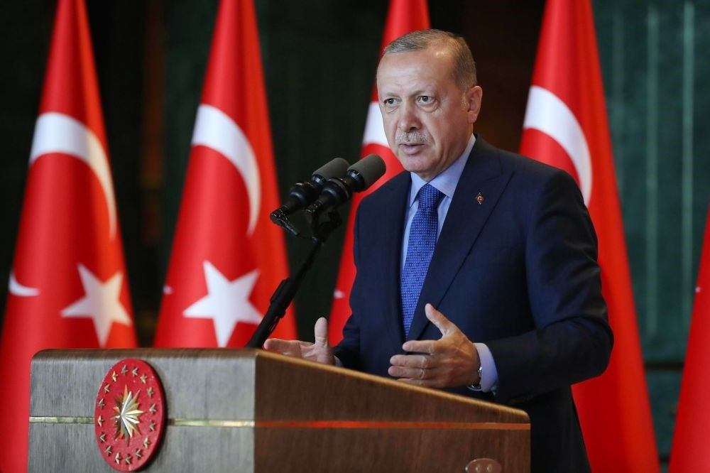 President Recep Tayyip Erdou011fan addressing a luncheon for participants of the 10th Ambassadors' Conference in Ankara yesterday.