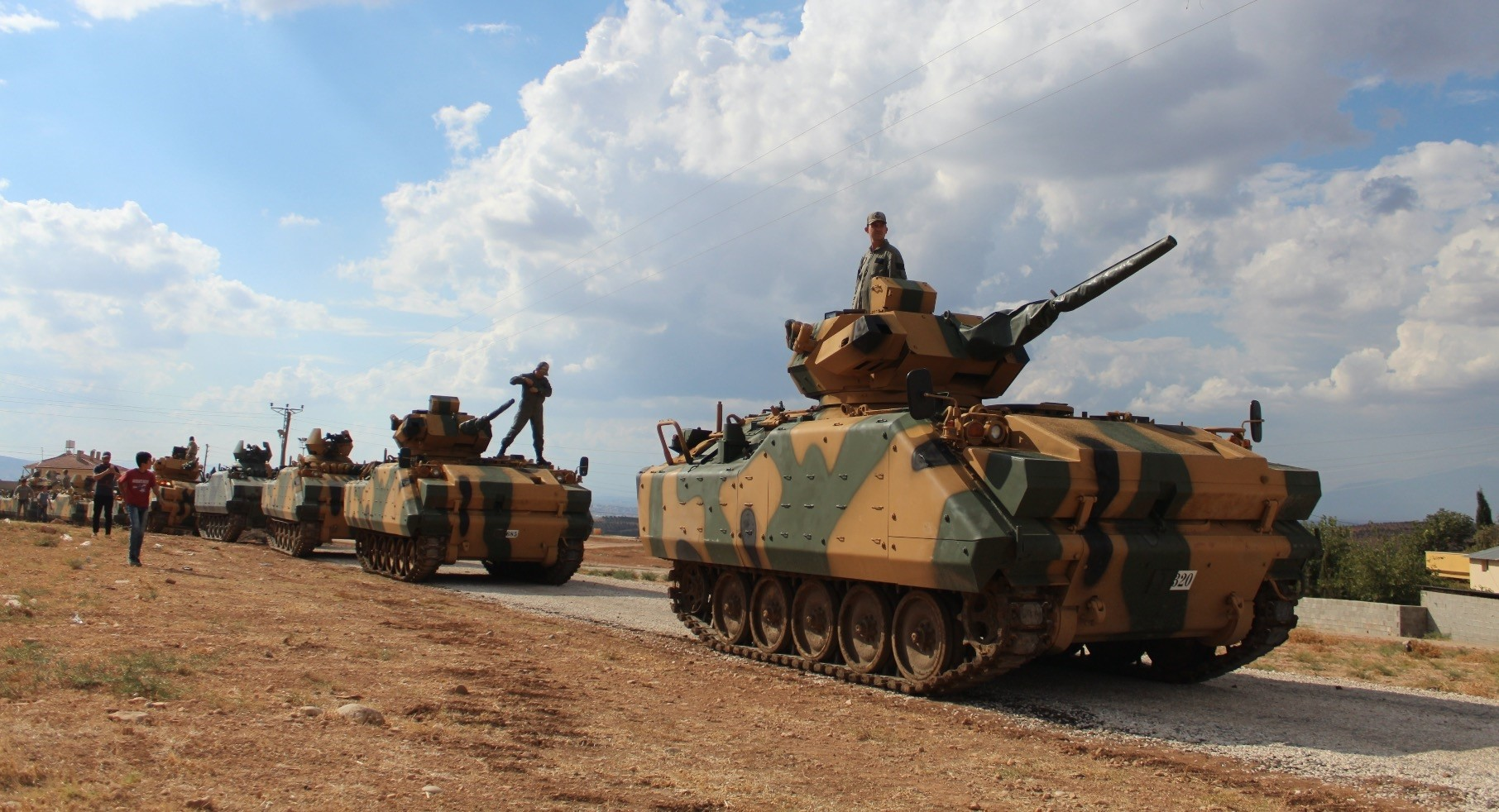 The Turkish army entered Syria's Idlib on Oct. 12 as a part of an operation to set up a de-escalation zone in Idlib.