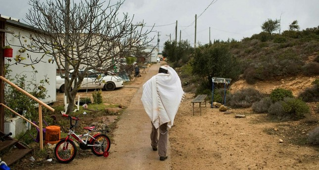 Israel evicted Jewish settlers from an unauthorized Amona outpost in the occupied West Bank in February.