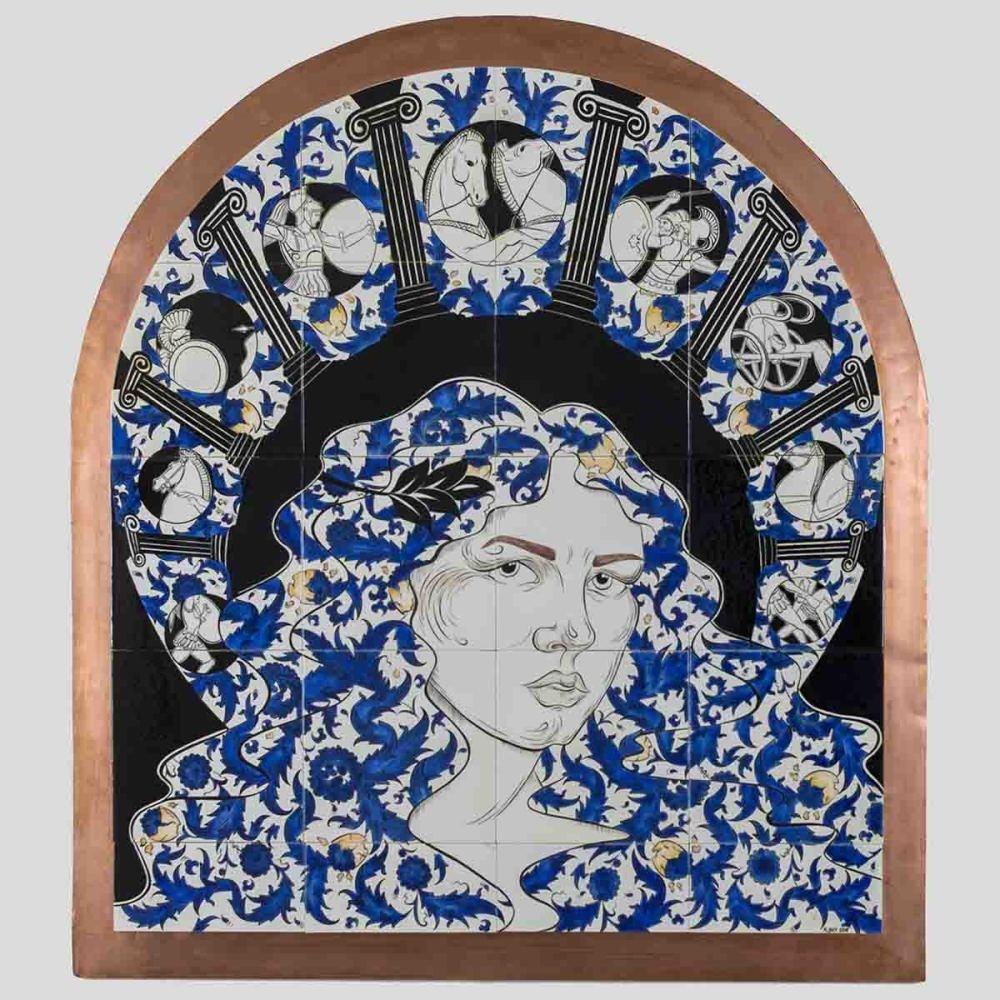 Participant artist Ku00fcbra Boy's work ,Helen.,