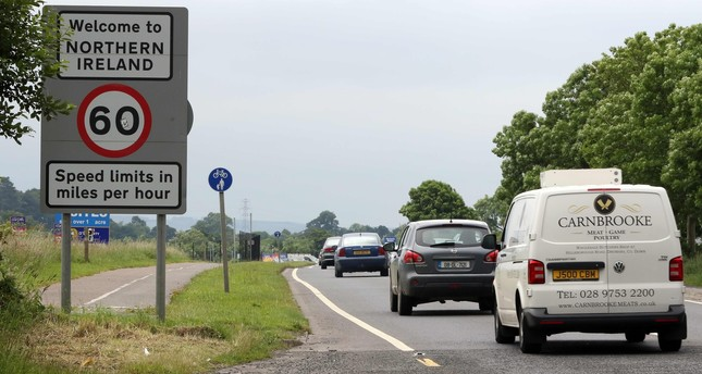 This file photo taken on June 25, 2016 shows vehicles crossing the control-less border from Donegal, Ireland into Northern Ireland. AFP Photo