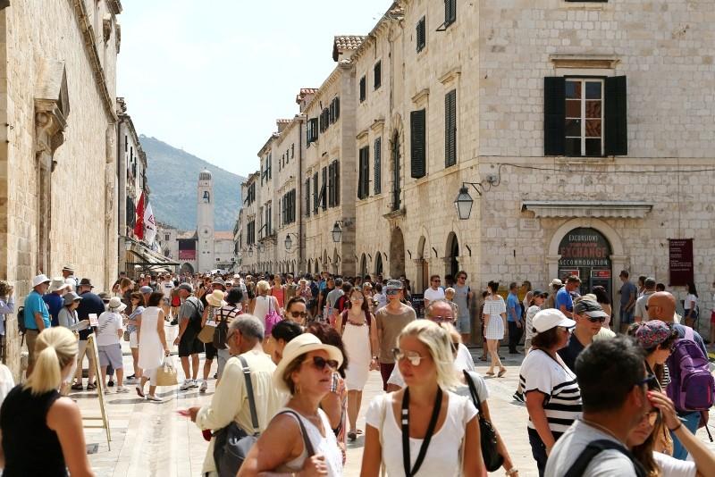 People are seen on Stradun street in Dubrovnik, Croatia August 2, 2018. (Reuters Photo)