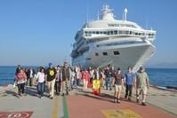 وصول سفينة سياحية إلى كوش أداسي الأسبوع الماضي الأناضول