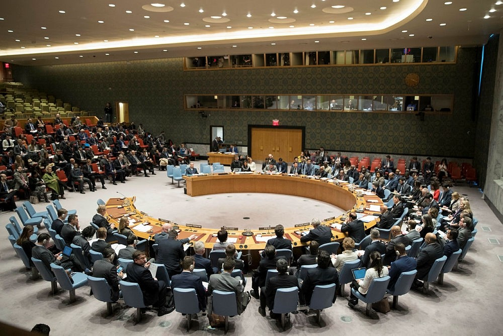 The United Nations Security Council meets on the situation in Iran, Friday, Jan. 5, 2018 at United Nations headquarters. (AP Photo)