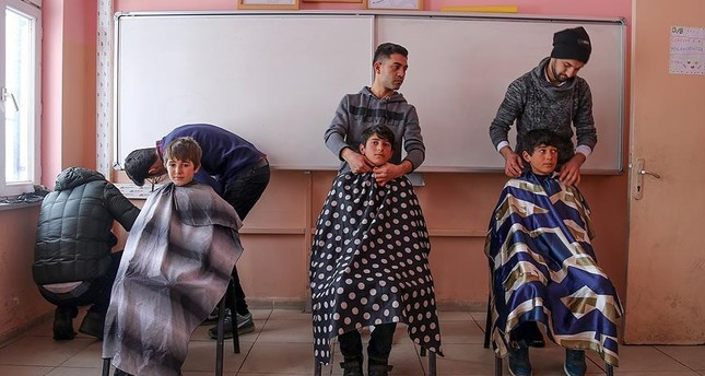 Hair that cares: Barbers offer free services to children in Turkish villages