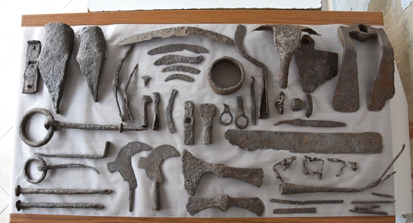 Agricultural and carpentry tools found in Alexandria Troas.