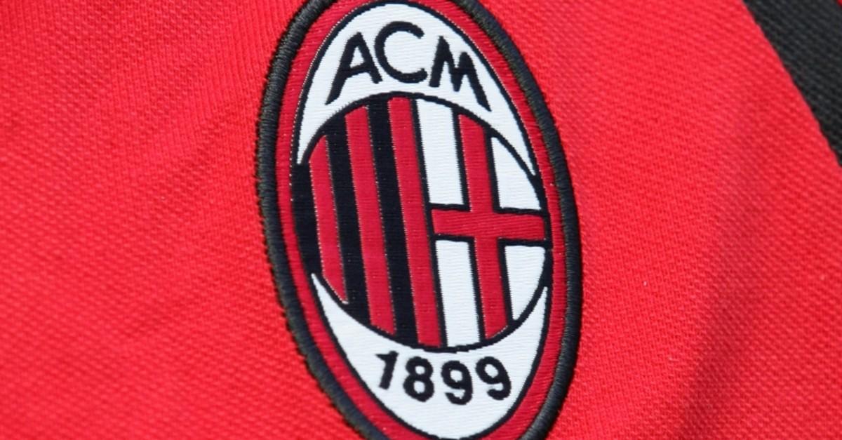 A file photo taken on September 10, 2006 shows the AC Milan' logo before their Serie A football match AC Milan vs Lazio, in Milan. (AFP Photo)