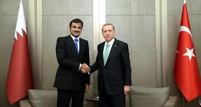 أردوغان وأمير قطر يبحثان الأزمة السورية والعلاقات الإستراتيجية بنيويورك