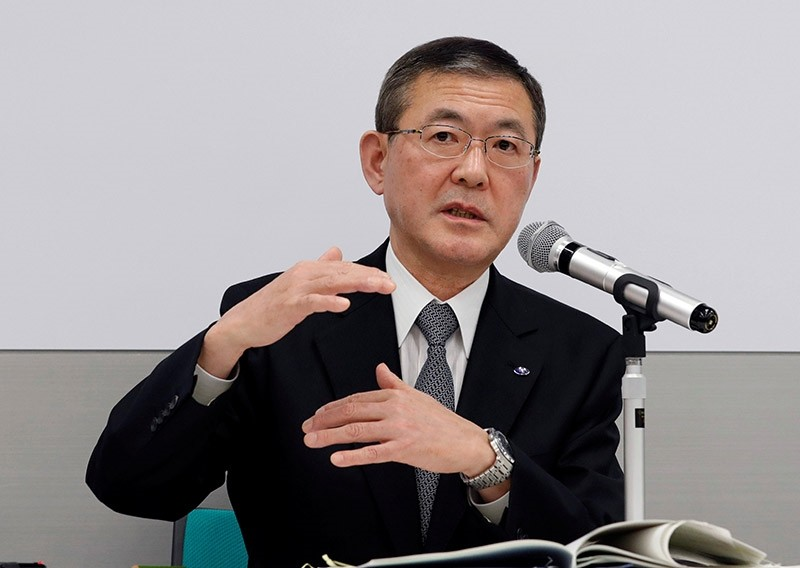 Subaru Corp's President and CEO Yasuyuki Yoshinaga attends a news conference at the company's Tokyo headquarters in Tokyo, Japan Dec. 19, 2017. (Reuters Photo)