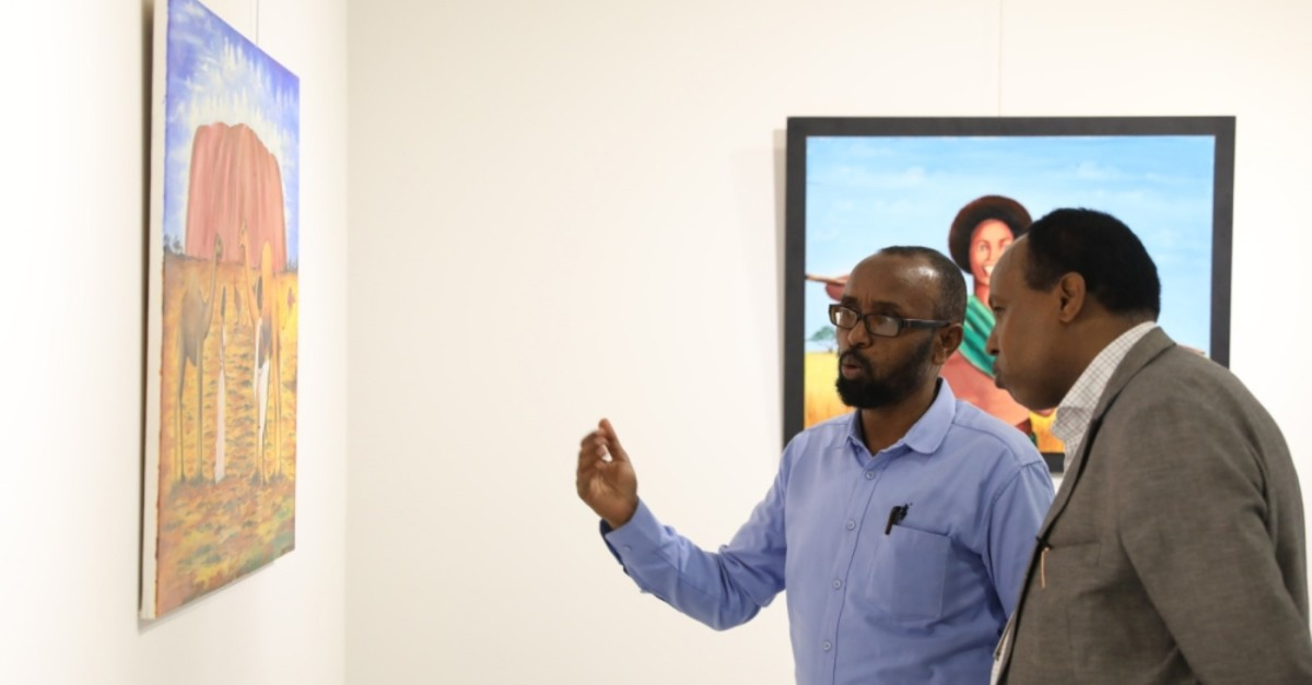 ,Nabadoon,, which present paintings representing the Somali culture, is on display until July 7, 2019.