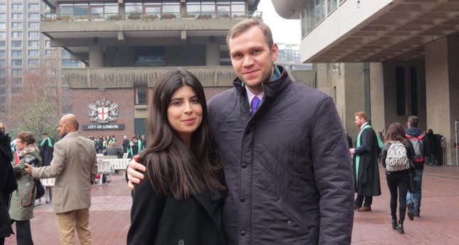 An undated handout photo made available by Daniela Tejada showing Durham University PhD student Matthew Hedges and his wife Daniela Tejada in London, Britain. EPA Photo