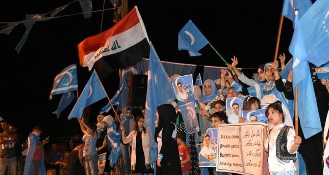 من احتجاج الحزب التركماني على نتائج الانتخابات التشريعية (الأناضول)