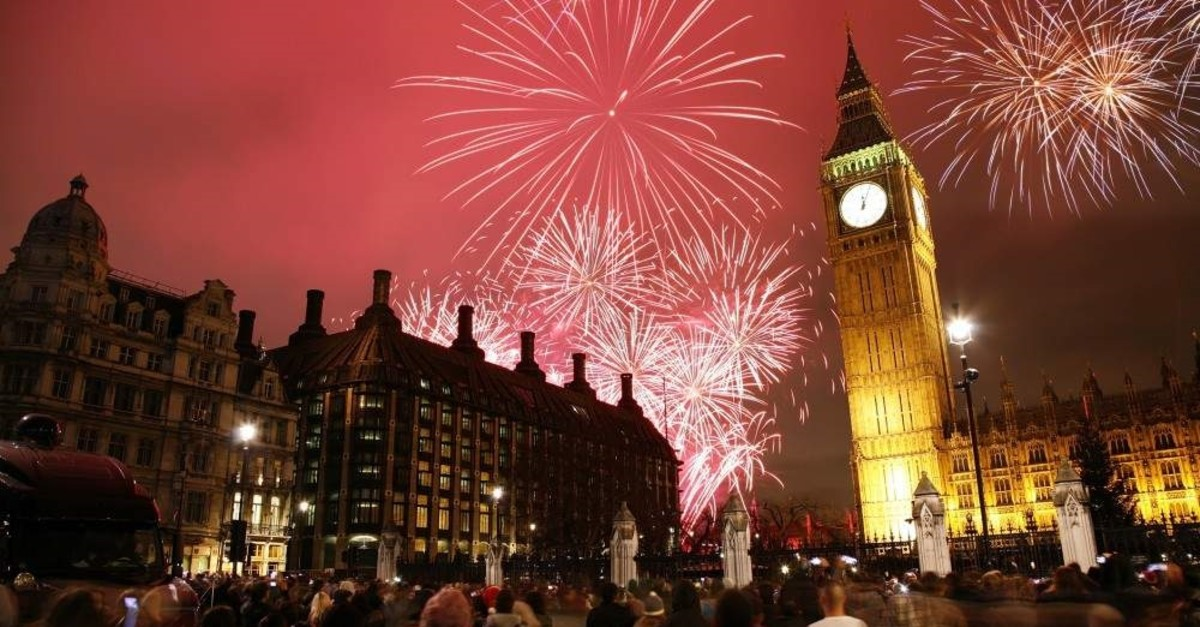 New Year's Eve fireworks over Big Ben at midnight, London, Dec. 31, 2012. (iStock Photo)