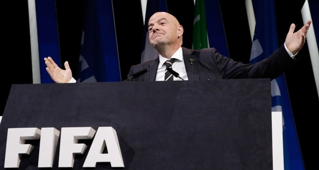 Unopposed Infantino re-elected as FIFA president