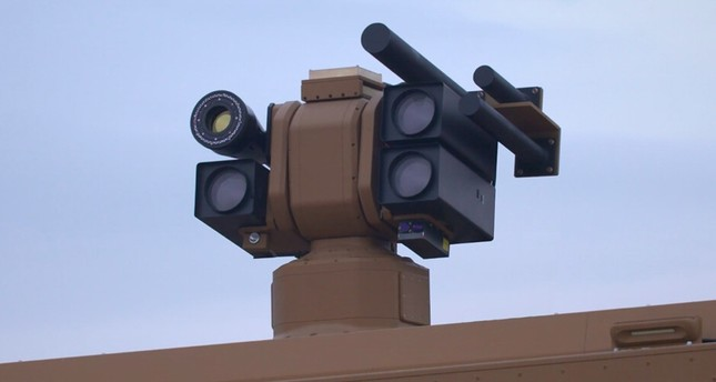 Roketsan's directed-energy weapon Alka mounted on a truck. (AA Photo)