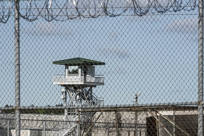 This shows the Lee Correctional Institution on Monday, April 16, 2018, in Bishopville, S.C. Multiple inmates were killed and others seriously injured amid fighting between prisoners inside the maximum security prison in South Carolina. (AP Photo)