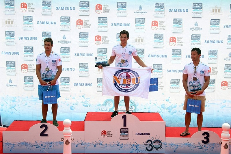Doğukan Ulaç of the Turkish Republic of Northern Cyprus (TRNC) took first, followed by Turkish swimmer Erge Can Gezmiş in second and American Alexander Kostich in third.