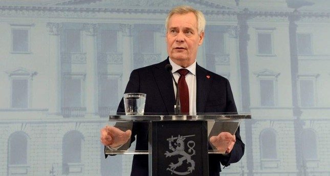 Finland's Prime Minister Antti Rinne gives a news conference on his resignation at the Government Palace, Helsinki, Dec. 3, 2019. (REUTERS Photo)