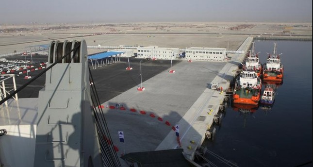 General view of Hamad Port during a ceremony marking its partial opening (Reuters File Photo)