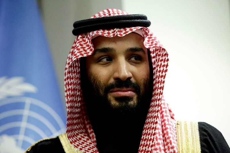 Saudi Arabia's Crown Prince Mohammed bin Salman Al Saud is seen during a meeting with U.N Secretary-General Antonio Guterres at the United Nations headquarters in the Manhattan borough of New York City, New York, U.S. March 27, 2018. (Reuters Photo)