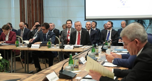 President Recep Tayyip Erdoğan at the Southeast European Countries Cooperation Process (SEECP) Summit in Sarajevo, Bosnia-Herzegovina, July 9, 2019.