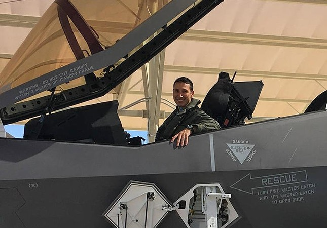 Turkish pilot Major Halit Oktay carried out the first flight (AA Photo)
