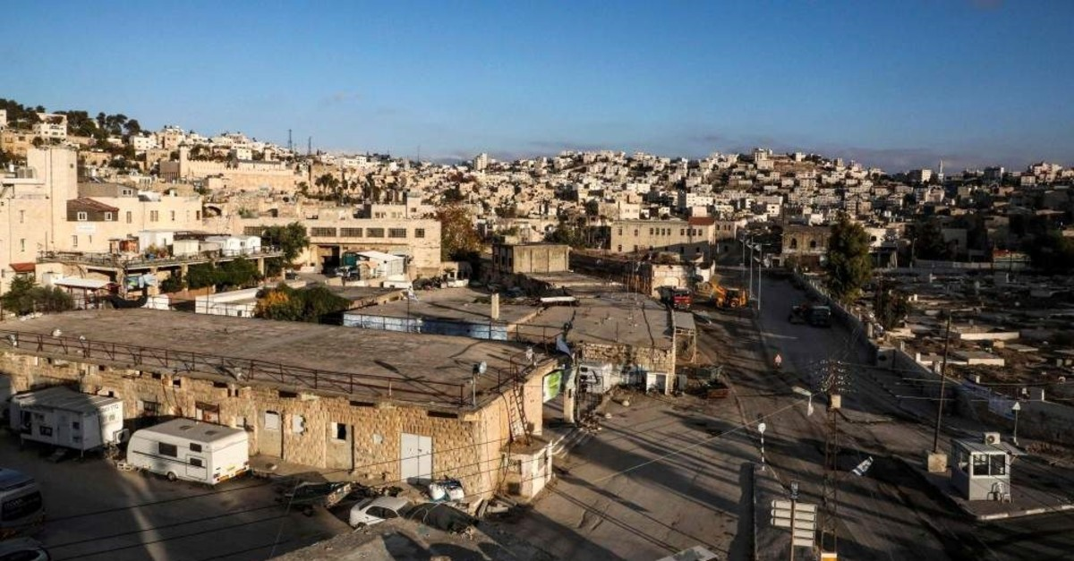 A view of the flashpoint city of Hebron in the occupied West Bank, Dec. 1, 2019. (AFP Photo)