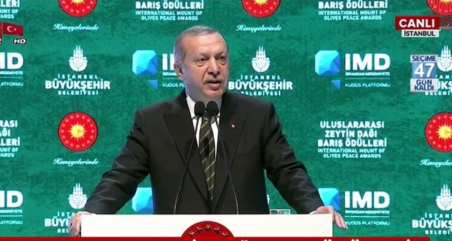 أردوغان ينتقد صمت المجتمع الدولي إزاء الظلم الذي يتعرض له الفلسطينيون
