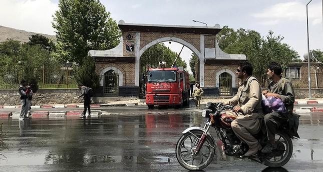مدخل مجمع مجلس علماء الدين في كابول الذي استهدفه التفجير