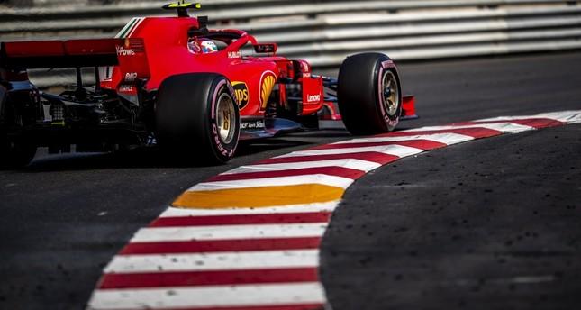 Finnish Formula One driver Kimi Raikkonen of Scuderia Ferrari in action during the second practice session at Monte Carlo circuit in Monaco, on May 24.