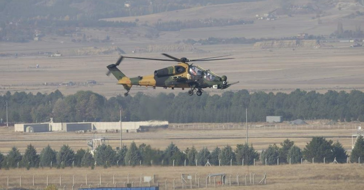 Reconfigured ATAK helicopters are equipped with upgraded electronic warfare systems and laser warning receivers, Ankara, Nov. 13, 2019.