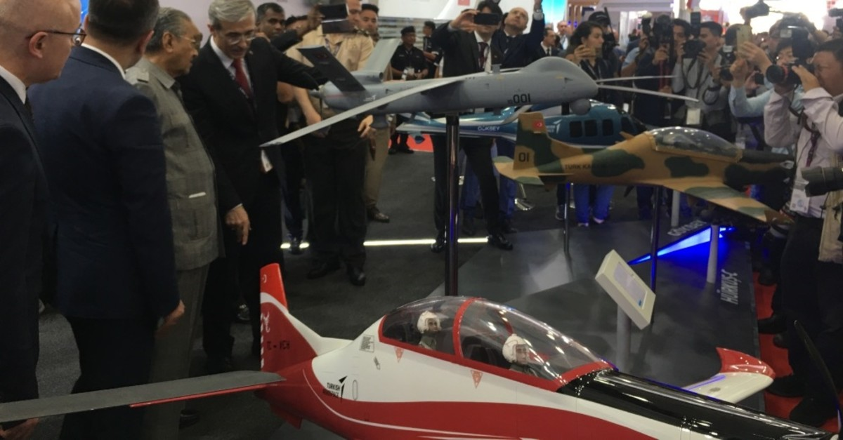 Turkish defense products being exhibited at the 2019 Langkawi International Maritime and Aerospace Exhibition (LIMA 2019) in Malaysia, March 26, 2019.