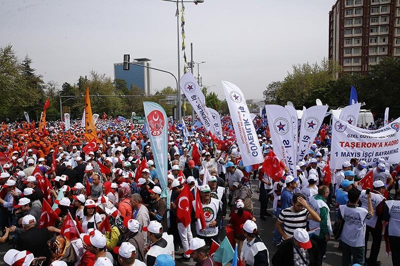 Labor and Solidarity Day celebrations in Ankara, May 1, 2017. (AA Photo)