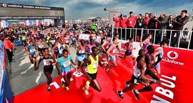 Eight thousand people from 50 countries participated in the Istanbul Half Marathon held on April 8.