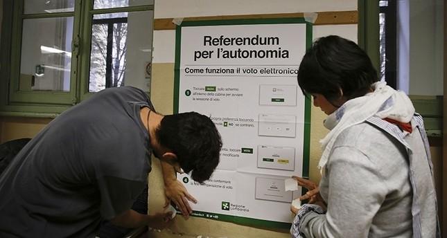 Autonomie-Referenden in norditalienischen Regionen