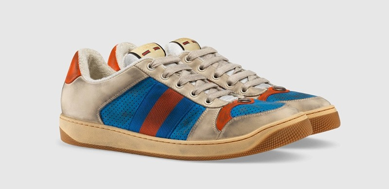 Photo  of Screener leather sneaker from Gucci's website
