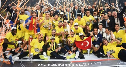 pIstanbul heavyweights Fenerbahçe beat Greece's Olympiacos 80-64 late Sunday, winning the Turkish Airlines Euroleague cup for Turkey for the first time./p