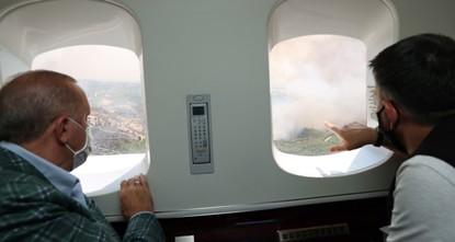 أردوغان يشكر روسيا لمساعدتها في إخماد الحرائق