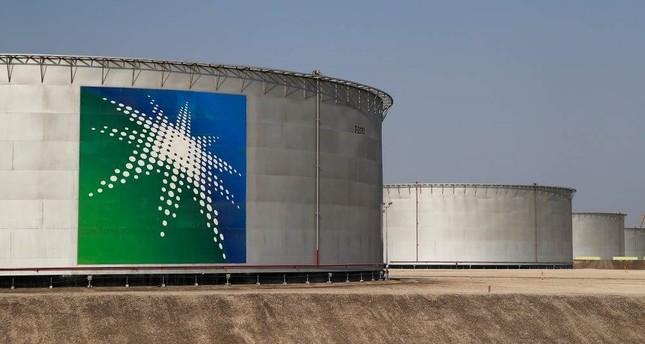Oil tanks at Saudi Aramco oil facility in Abqaiq, Saudi Arabia. (Reuters Photo)