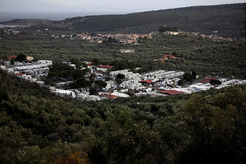 General view shows the Moria camp for refugees and migrants on the island of Lesbos, Greece, December 1, 2017. (Reuters Photo)