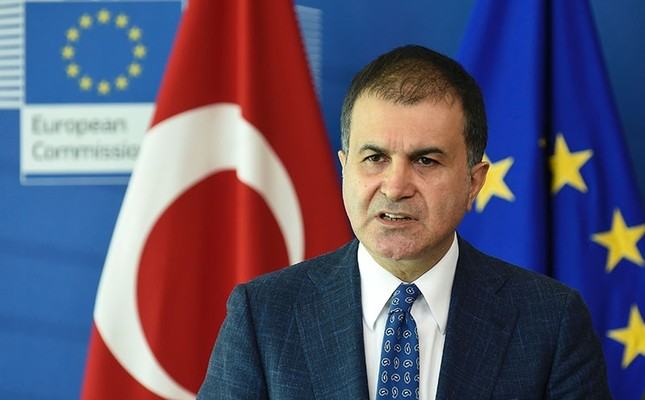 Turkey's Minister for EU Affairs Ömer Çelik addresses a joint press conference following the EU-Turkey High Level Political Dialogue meeting at the EU headquarters in Brussels on July 25, 2017. (AFP Photo)
