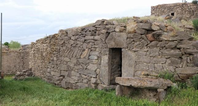 The stable in which the 3,500-year-old Hittite hieroglyphs were found in Turkey's Nevşehir province (IHA Photo)