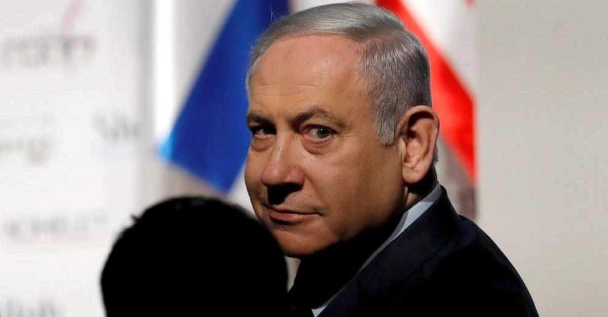 Israeli Prime Minister Benjamin Netanyahu arrives to attend a conference, Jerusalem, Jan. 8, 2020. (REUTERS Photo)