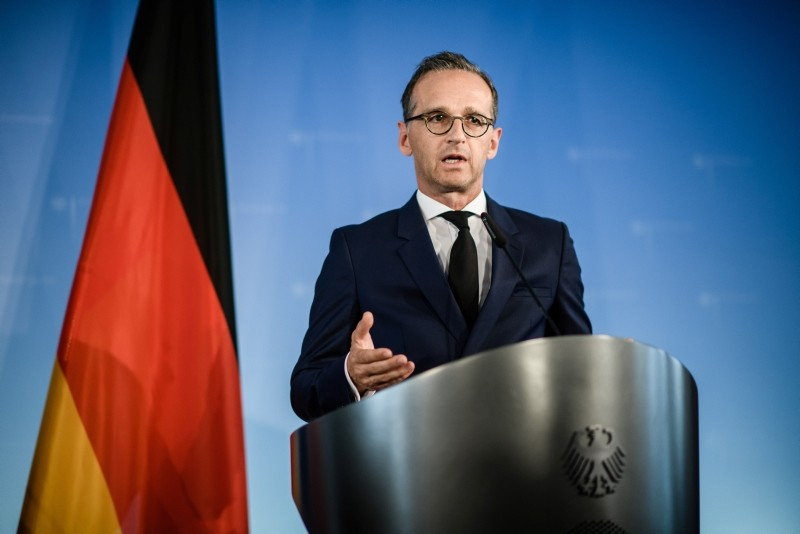 German Foreign Minister Heiko Maas during a joint press conference with Italian Minister of Foreign Affairs and International Cooperation Enzo Moavero Milanesi after their meeting in Berlin, Germany, 23 July 2018. (EPA Photo)