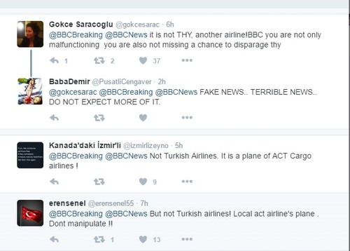 Turkish officials, social media users condemn media outlets